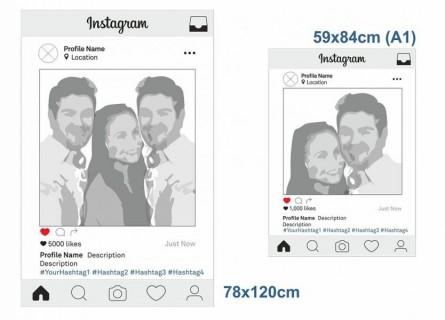 Instagram selfie frames template printing A1