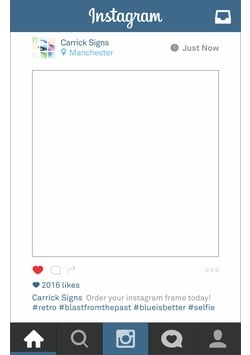 Instagram Frame Prop Personalised Instagram Photo Frame Print With