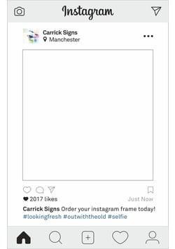 Instagram frame 2017 image