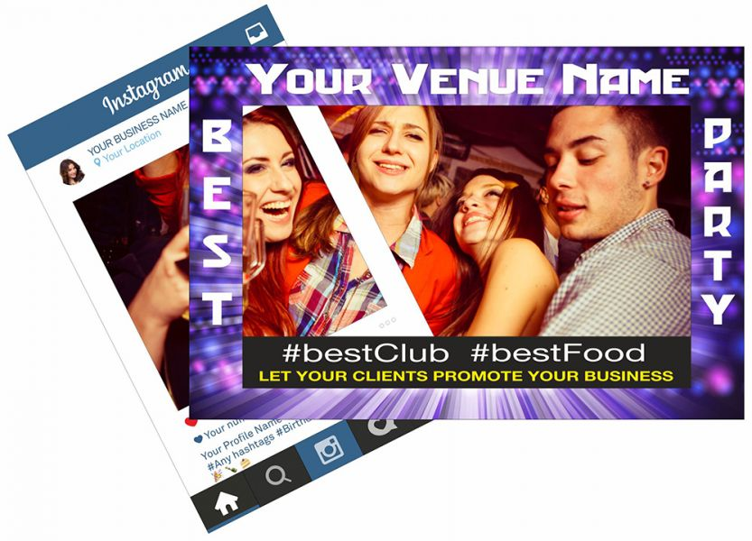 Party Venue, Club Event Selfie Frame, Restaurant, Business Selfie ...