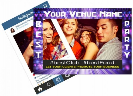 venue night club event party selfie frame and instagram frame