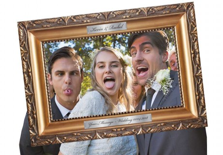 traditional ornate picture selfie frame wedding