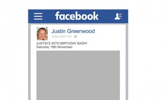 Facebook Photo Selfie Frame, Social Media Facebook Board Printed