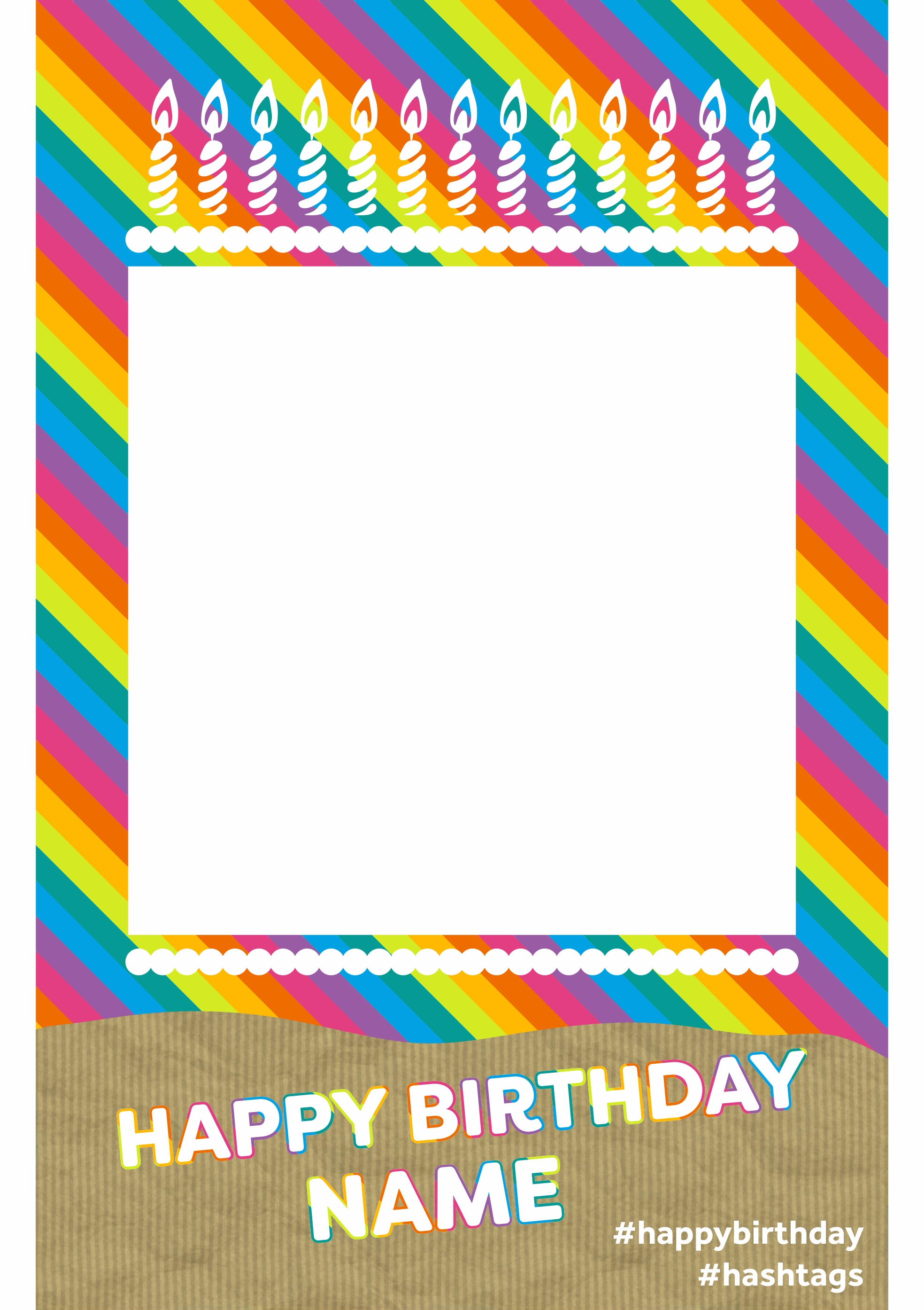 Rainbow Birthday Theme image