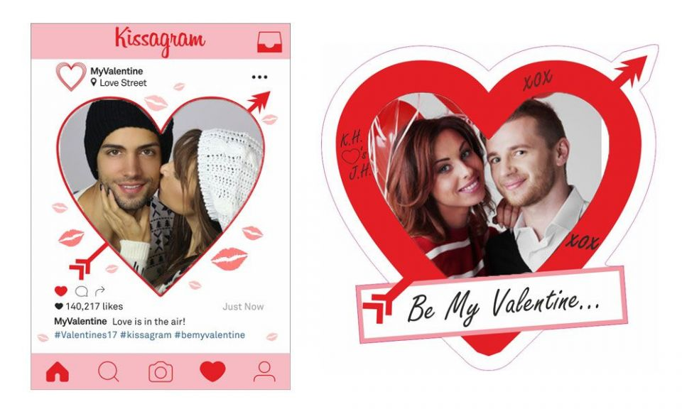 Valentine\'s Day Selfie Frame, Instagram Style and Custom Heart ...